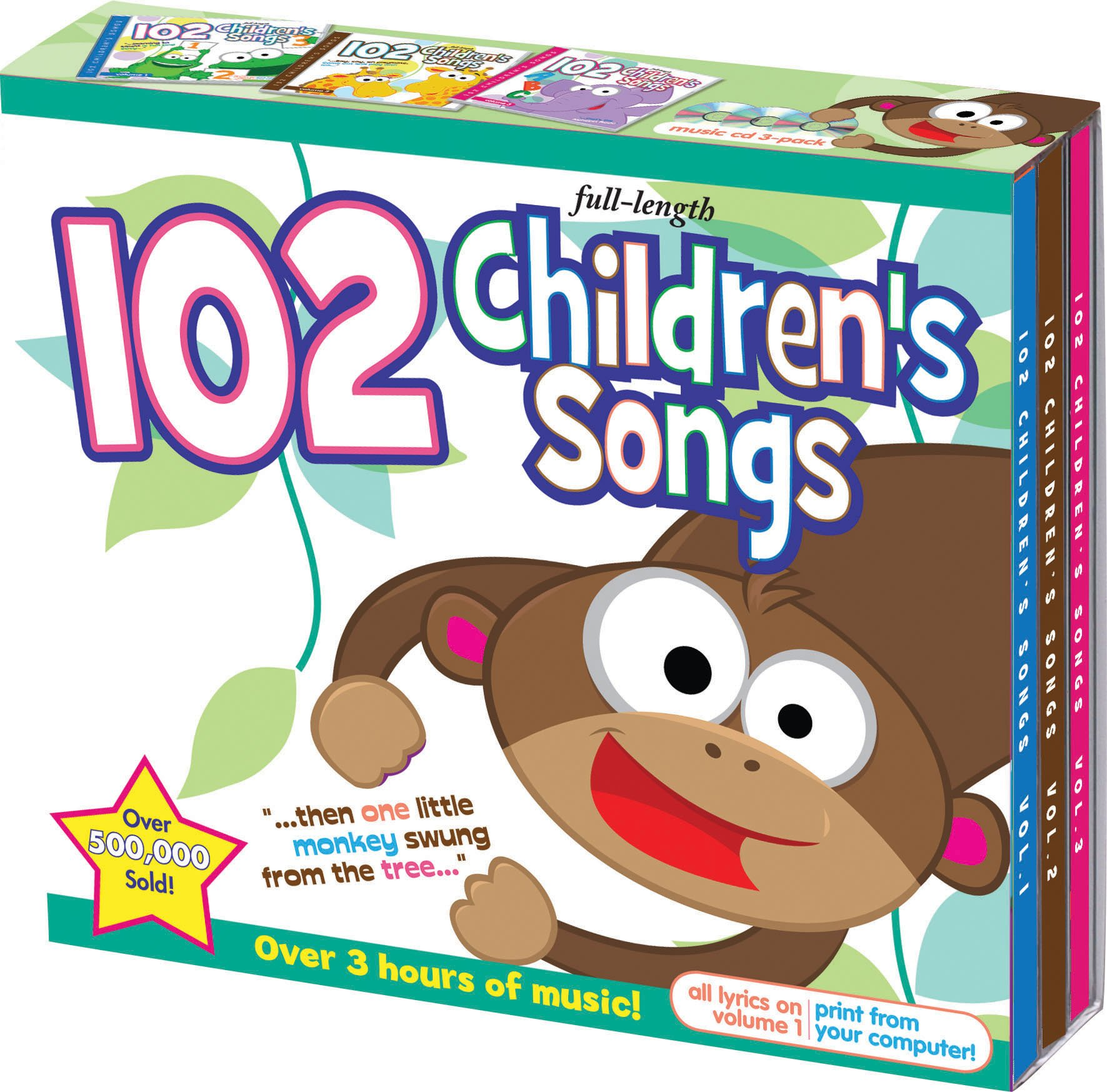 102 Children's Songs 3 CD Set