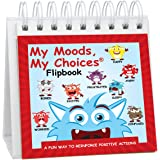 My Moods, My Choices Flipbook; 20 Different Moods/Emotions; Autism; ADHD; Stocking Stuffer; Help Kids Identify Feelings and Make Positive Choices; Laminated Pages (Monster Flipbook - Travel Size)