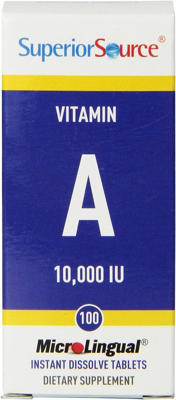 Superior Source Vitamin A 10,000 IU, 100 Count