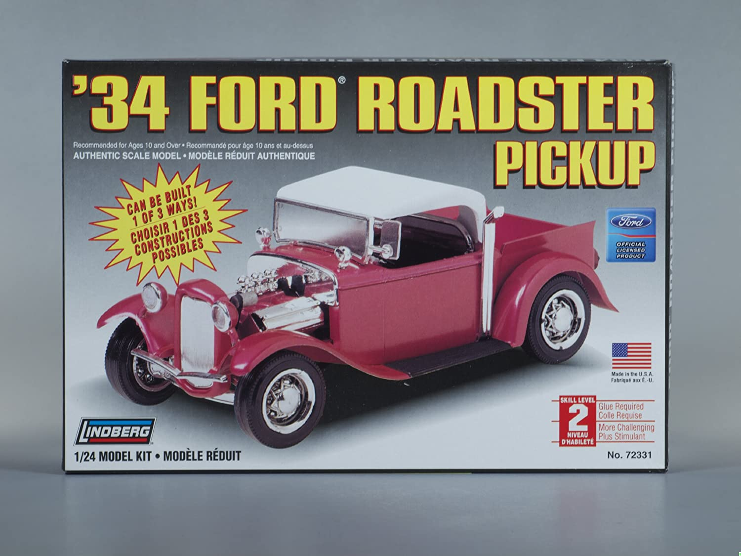 & Amazon.com: Lindberg Models 1934 Ford Roadster Pickup: Toys u0026 Games markmcfarlin.com