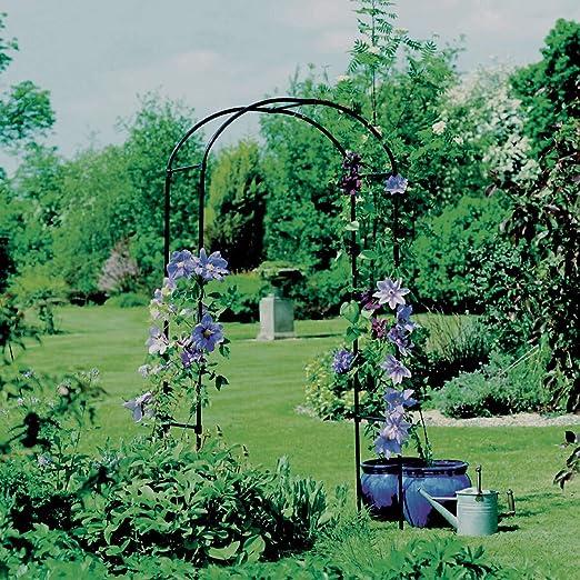 MISC Arcos de Metal Negro para jardín, Redondos, Redondos ...