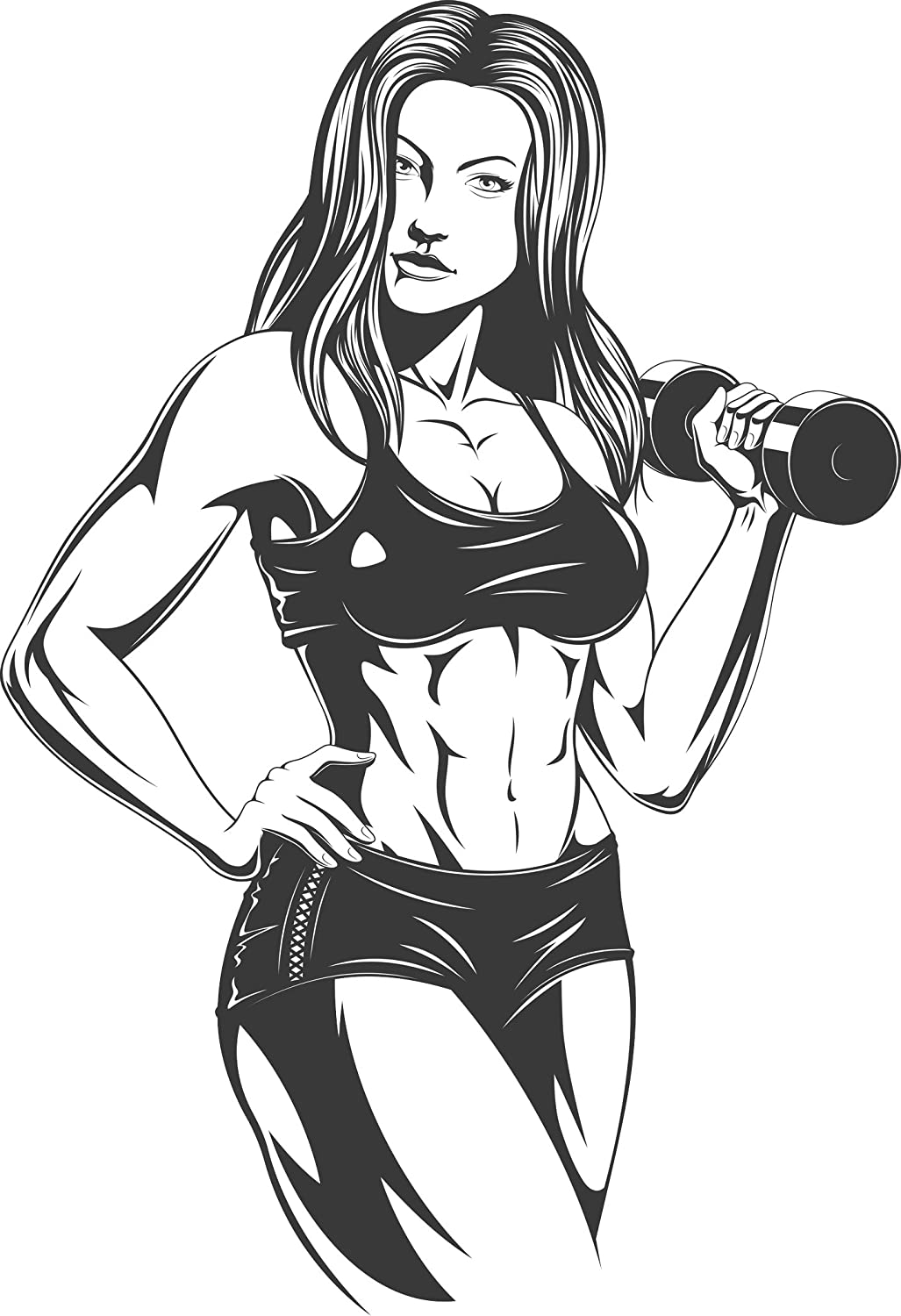 Amazon Com Divine Designs Cool Sexy Weight Lifting Fit Anime Woman Cartoon 2 Vinyl Decal Sticker 12 Tall Automotive Titles should be in good taste and include the woman's name if known. weight lifting fit anime woman cartoon