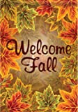 """Welcome Fall Leaves"" 28"" X 40"" Double Sided House Flag"