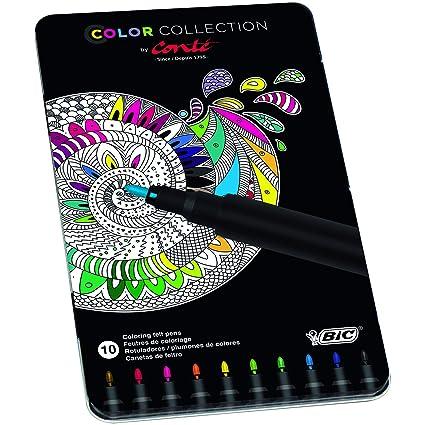Conté rotuladores – colores Surtidos, Edición Limitada con Estuche Metálico de 10 unidades