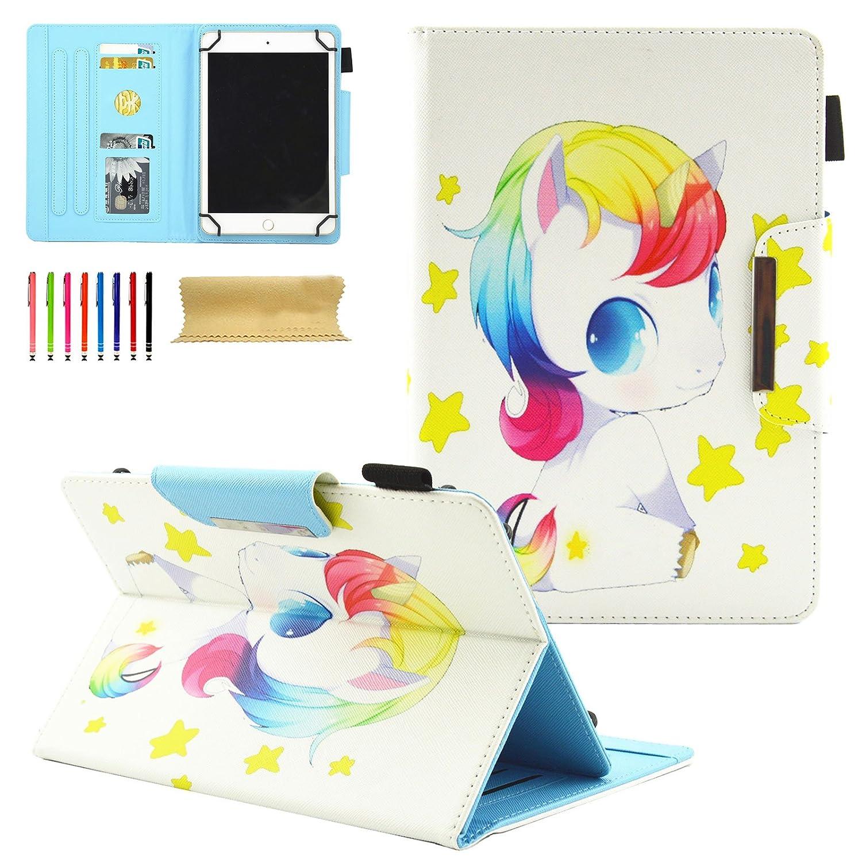 05 Pink Ocean For 7-8 Inch Tablet GoTab RCA Funda Universal para Tablet de 6 a 7 Pulgadas Samsung Soporte para