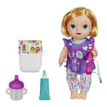 Amazon Com Baby Alive Brushy Brushy Baby Doll Blonde Toys Games