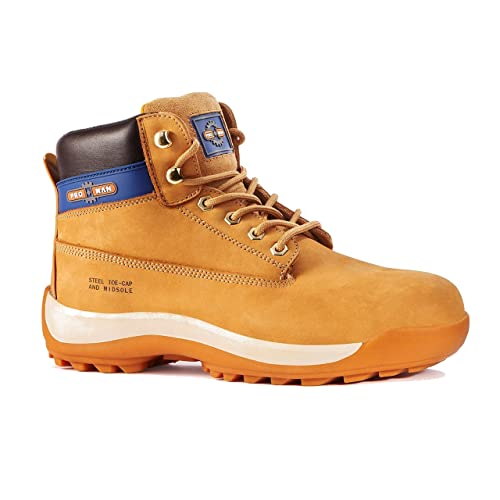 Facility Maintenance & Safety Boots Rock Fall Pro Man Orlando Tc35c S3 Honey Nubuck Steel Toe Cap Work Safety Boots