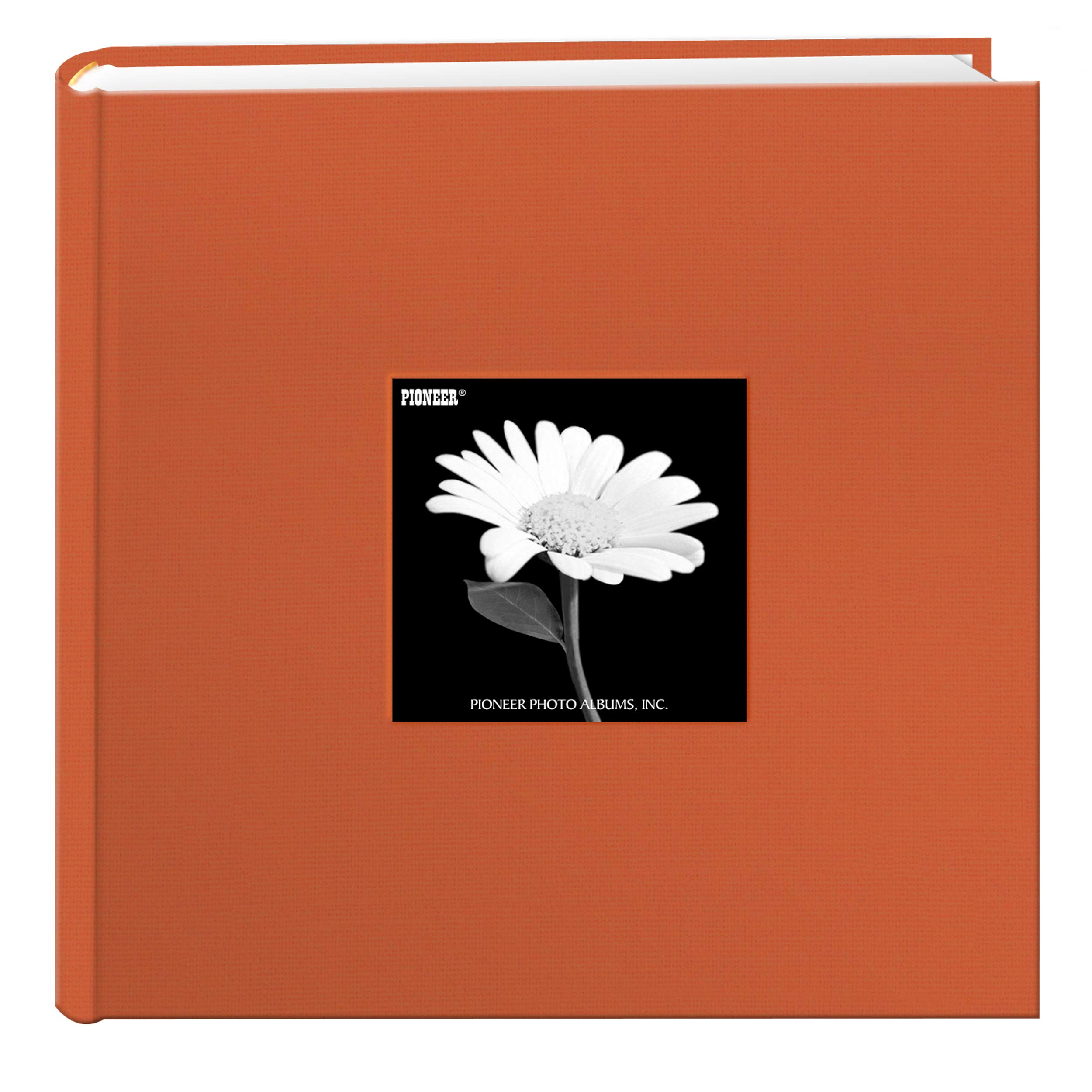 Fabric Frame Cover Photo Album 200 Pockets Hold 4x6 Photos, Tangerine Orange by Pioneer Photo Albums