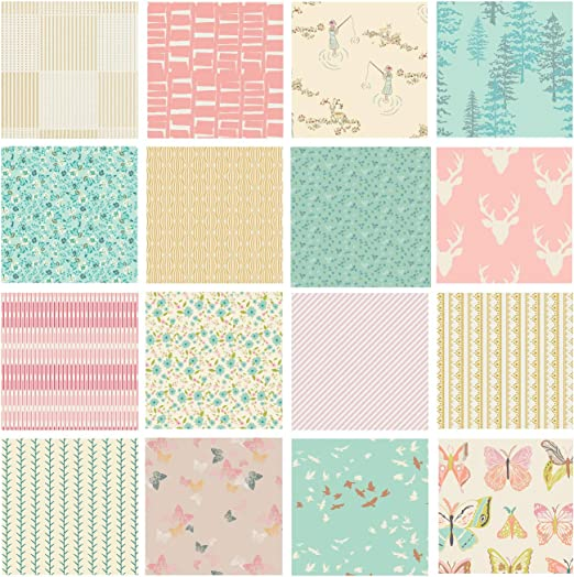 Fat Quarter Toy Chest Baby Shoes on Pink Nursery Cotton Quilting Fabric