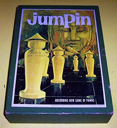 Vintage 3m Bookshelf Game Jumpin The Game Of Pawns 1964