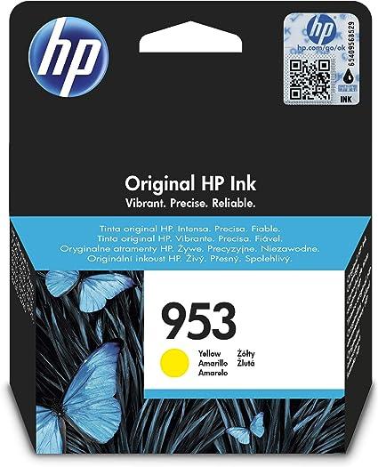 Oferta amazon: HP 953 F6U14AE, Amarillo, Cartucho de Tinta Original, compatible con impresoras de inyección de tinta HP OfficeJet Pro 7720, 7730, 7740, OfficeJet Pro Series 8000