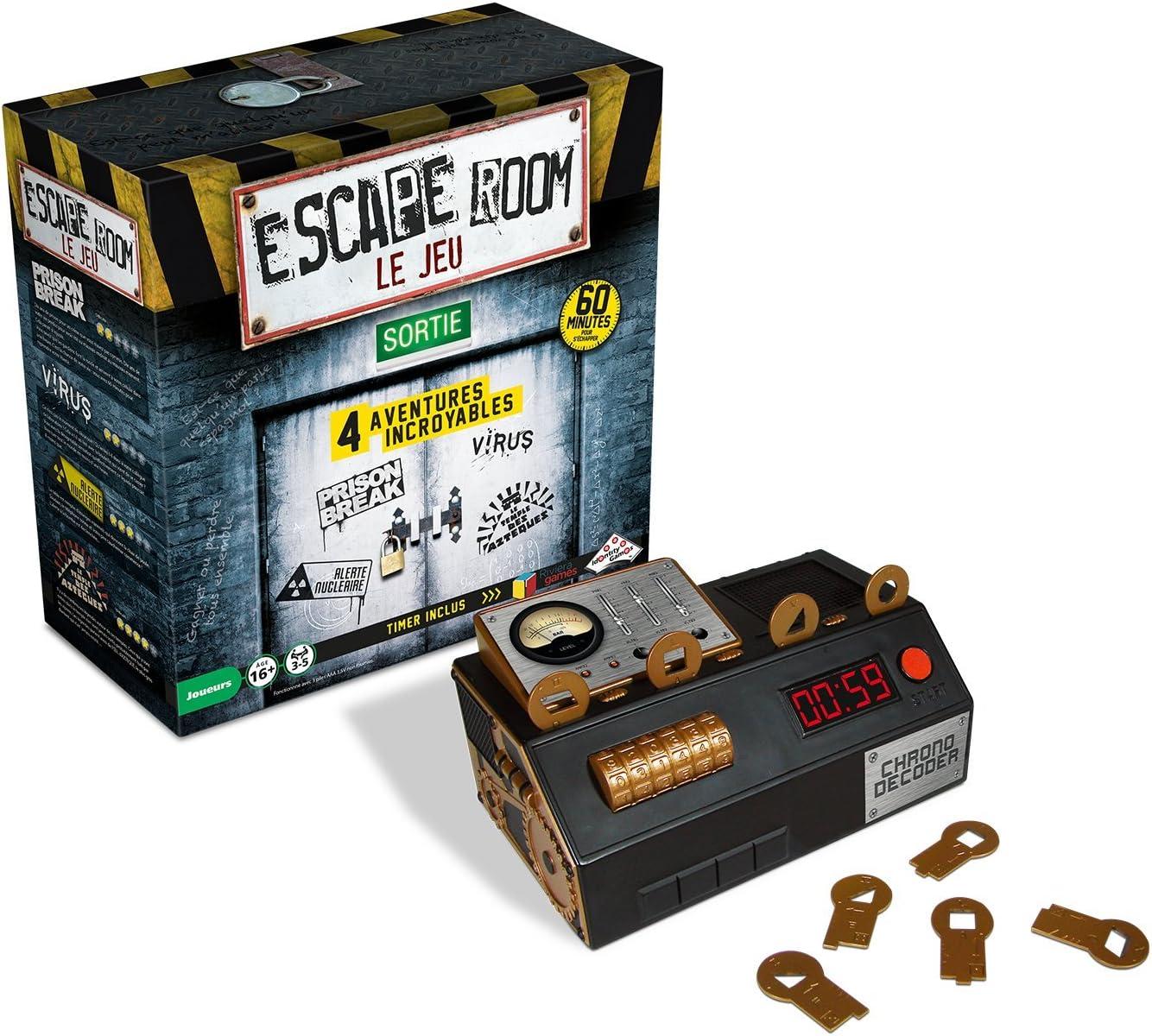ESCAPE ROOM - El juego - Estuche de 4 aventuras diferentes en francés. Riviera Games. , color/modelo surtido: Amazon.es: Juguetes y juegos