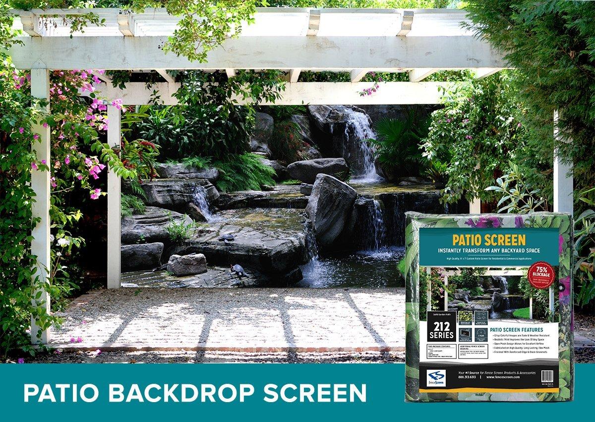 Amazon.com : FenceScreen Printed Patio Backdrop Screen, Turtle Falls,  9 Feet By 7 Feet : Patio, Lawn U0026 Garden