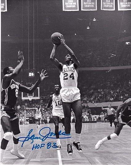 outlet store d3518 ba84d Autographed Sam Jones Picture - BOSTON CELTICS HOF 83 8x10 ...