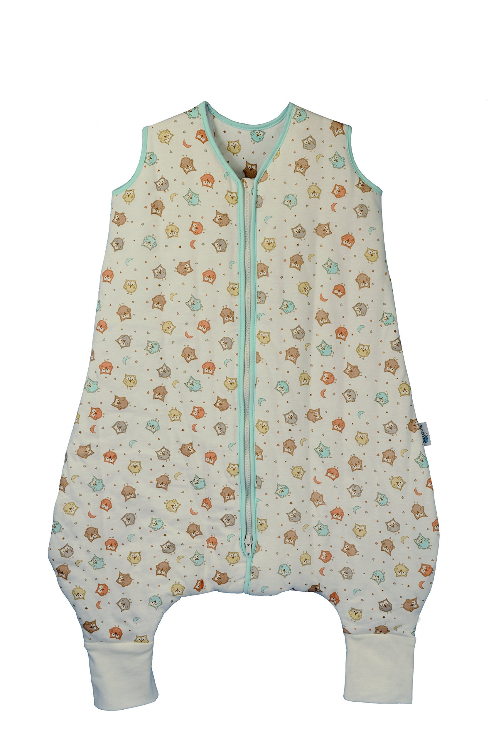 Slumbersafe Summer Sleeping Bag with Feet and Poppers 1.0 Tog Simply Owl 12-18 Months by Slumbersafe