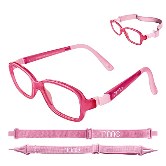 a4a4021d822 Nano Children Eye Glasses Pink Spectacle Frame RE-PLAY size 42 - (4-6 years  old)  Amazon.in  Clothing   Accessories
