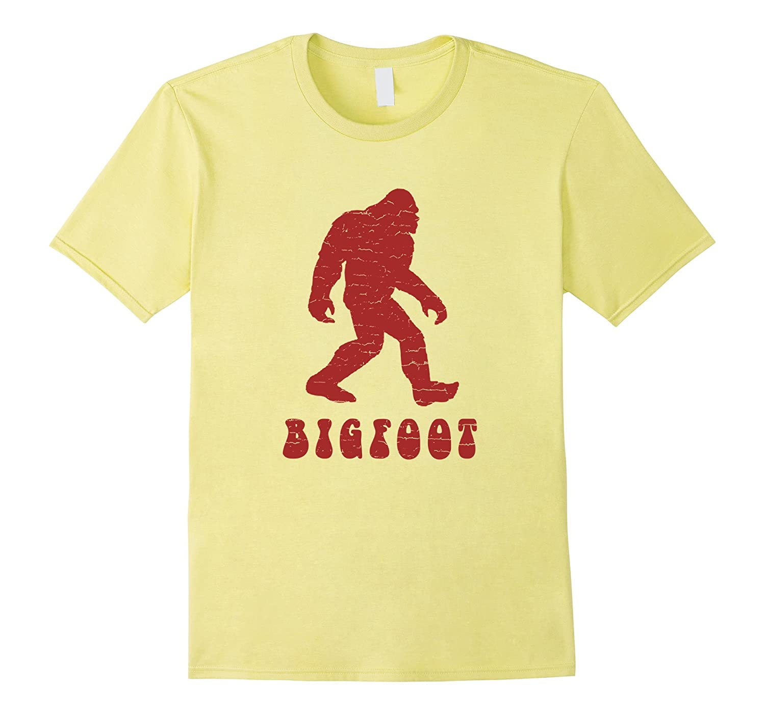 Distressed Retro 1970's Style Bigfoot Silhouette T-Shirt