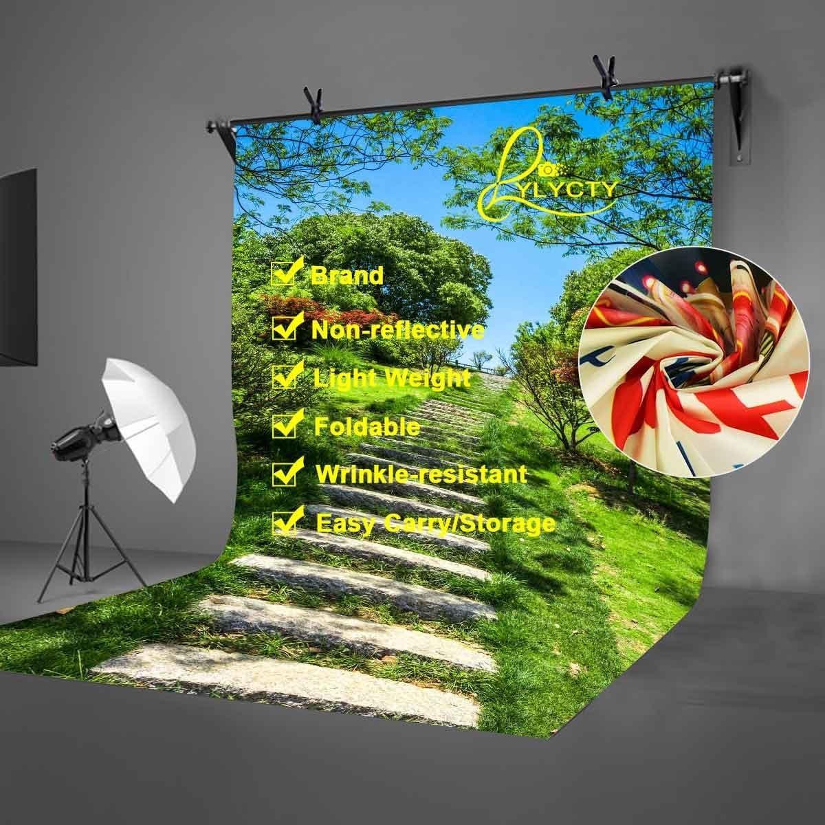 LYLYCTY 5X7ft Wetland Park Backdrop Green Tree Grass Environment Beautiful Wetland Park Photography Backdrop Photo Photography Background Props Studio Indoor Decorations LYLX443