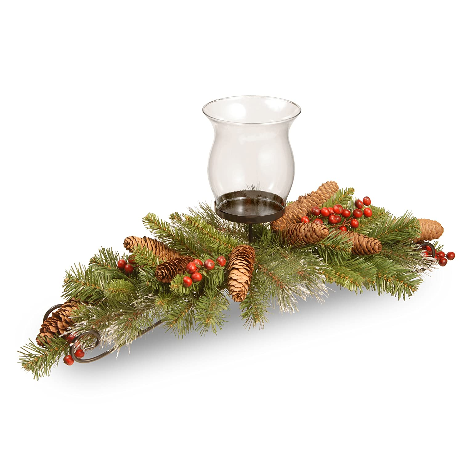 Crestwood Spruce Pine Conecandle Holder Centerpiece