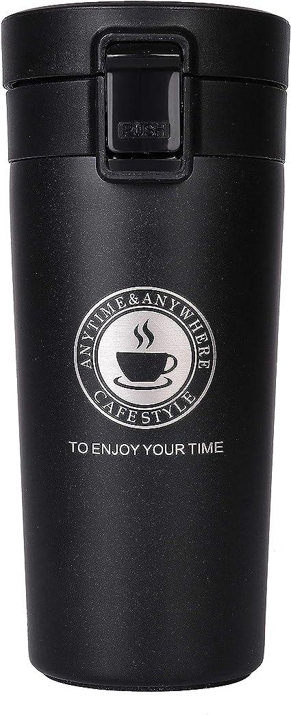 Oferta amazon: Termo,Termo de Café Matraz de Acero Inoxidable Aislado Diseño a Prueba de Fugas Para Bebidas Frías y Calientes Bebidas té Café Agua 380ML