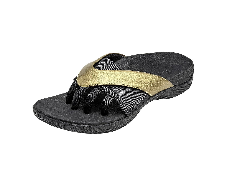 Wellrox Women's Evo-Grasp Casual Sandal B00CX9VJJM 9 B(M) US|Gold