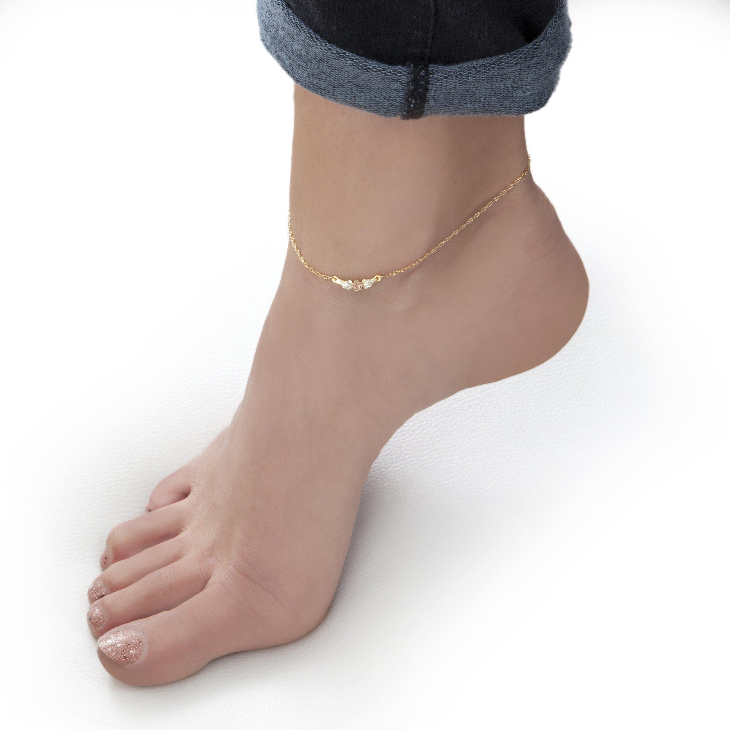 Black Hills Gold Rose Ankle Bracelet by Black Hills Gold (Image #3)