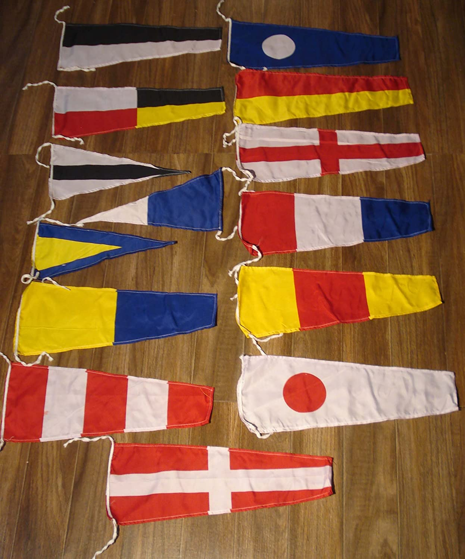 Brass Blessing Marine Navy Bunting Signal Flags Maritime//Marine//Boat//Yacht//Beach Party Nautical Decor
