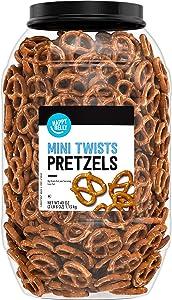 Amazon Brand - Happy Belly Mini Twist Pretzels, 40oz
