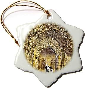 3dRose Victorian Era Magic Lantern Slide Windsor Castle The Cloisters. - Ornaments (ORN_246139_1)