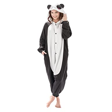 07cf11678 Emolly Fashion Adult Panda Animal Onesie Costume Pajamas for Adults and  Teens (X-Large