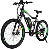 Addmotor HITHOT Electric Bicycles Mountain 27.5 Inch Tire Full Suspension Electric Bikes 48V 500W Motor 10.4 Ah Samsung Lithium Battery Pedal Assist H1 2018 Ebikes For Men