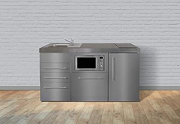 Miniküche Mit Backofen Und Kühlschrank : Miniküche premiumline mpgsmess u edelstahl u kühlschrank