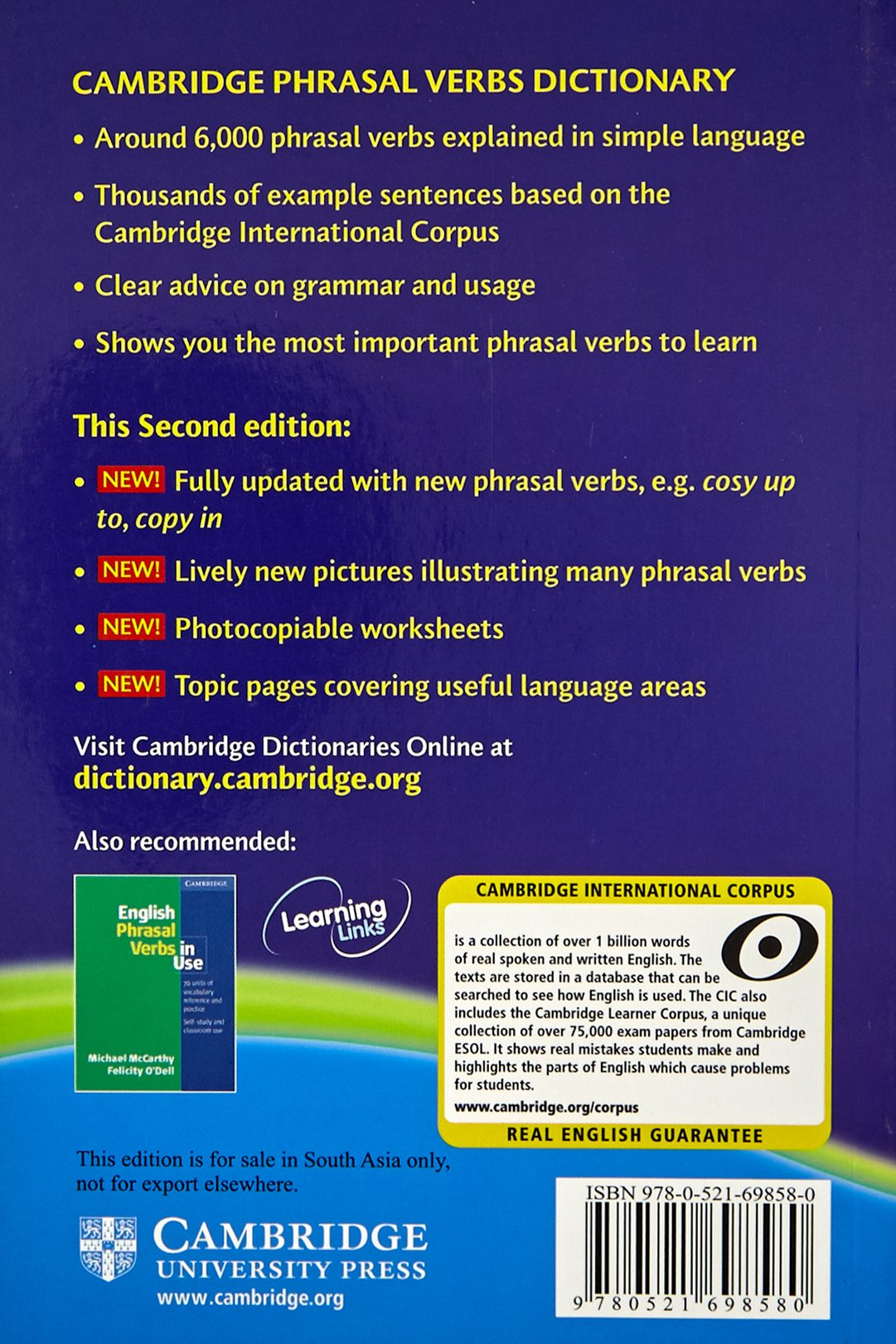 Cambridge Phrasal Verbs Dictionary: Amazon in: Cup: Books