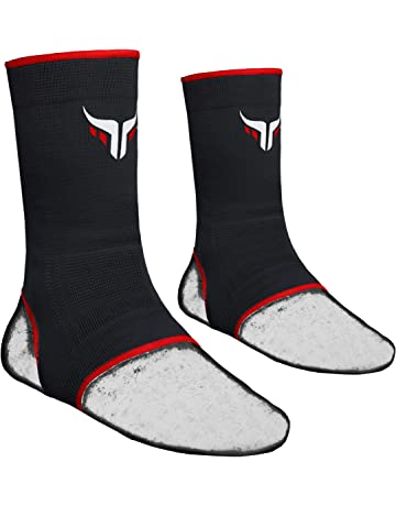 KIKFIT Red MMA Ankle Support Foot Brace Injury Sprain Pain Muay Thai Protector