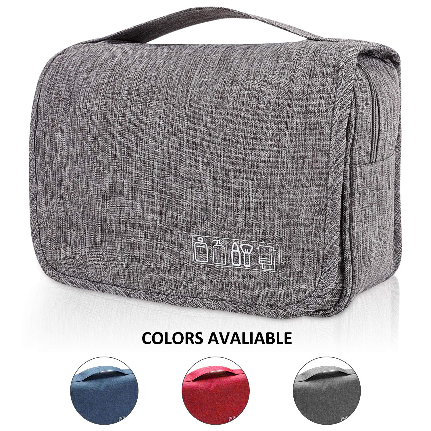 bc278c485da6 EcoLifeDay Toiletry Bag, Handing Toiletry Bag for Travel, Waterproof  Cosmetic Large Travel Kit,...