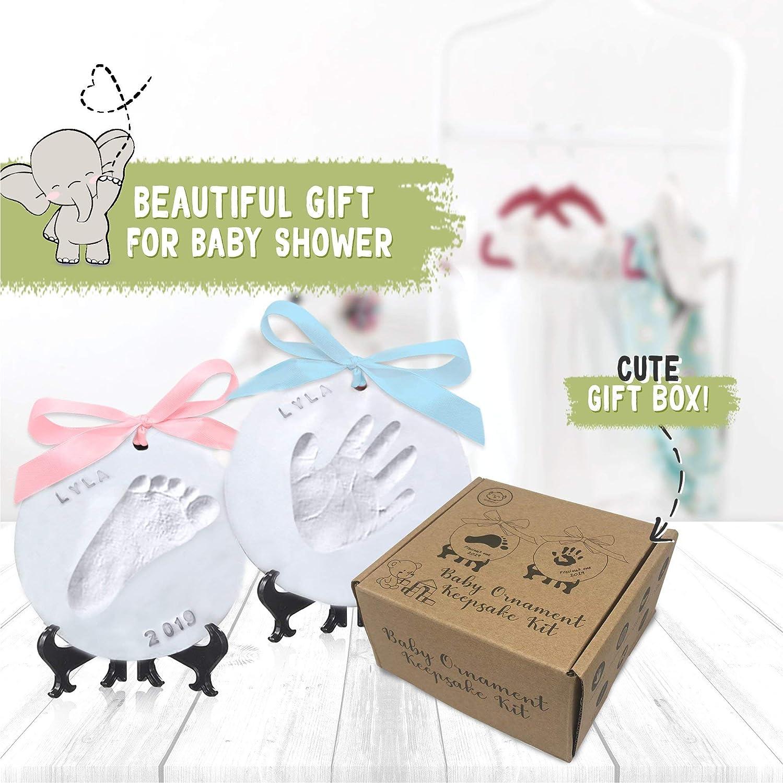 Baby Handabdruck Fu/ßabdruck Ornament Andenken Kit Personalisierte Baby Prints Ornamente f/ür Neugeborene Perfektes Baby Registry Geschenkbox