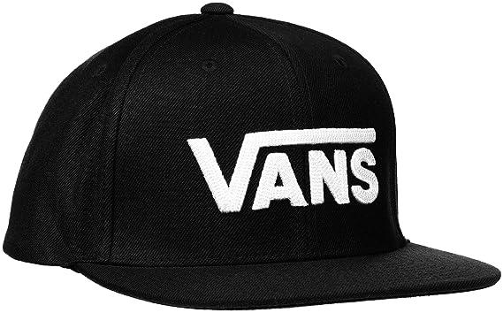 Amazon.com  Vans Drop V Ii Snapback Cap One Size Black White  Clothing ac5f7815fa8