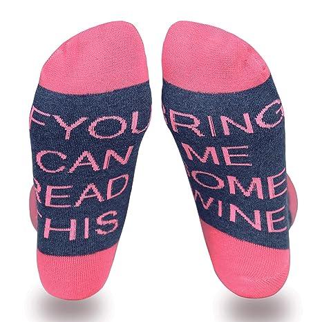 Tagvo Calcetines bordados con letras, Calcetines de algodón cálido de invierno Calcetines deportivos con letras