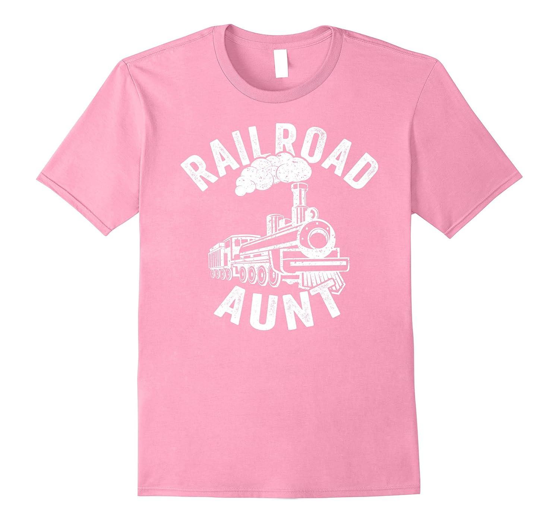Railroad Aunt Shirt Love Train Railway Trains Model Toy-TJ