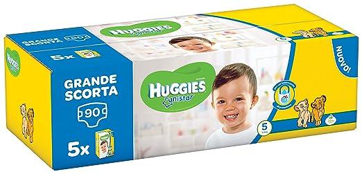 10 opinioni per Huggies Unistar Pentabox, Taglia 5 (11-19 kg), 5 Confezioni da 18 [90 Pannolini]