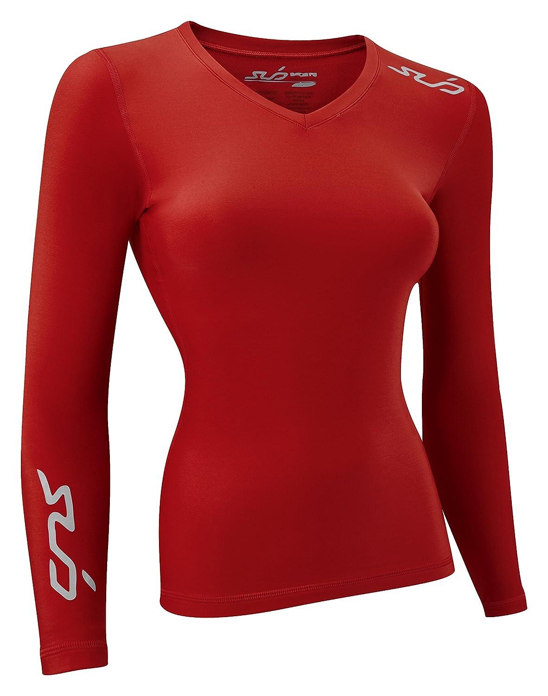 Sub Sports Damen Thermo-Oberteil, langärmelig, für Winter, Ski-/Schnee, kaltes Wetter, Kompressionspassform, gebürstetes Innenfutter