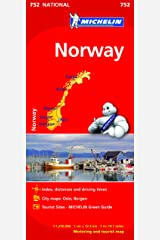 Norway - Michelin National Map 752 (Michelin National Maps) Paperback