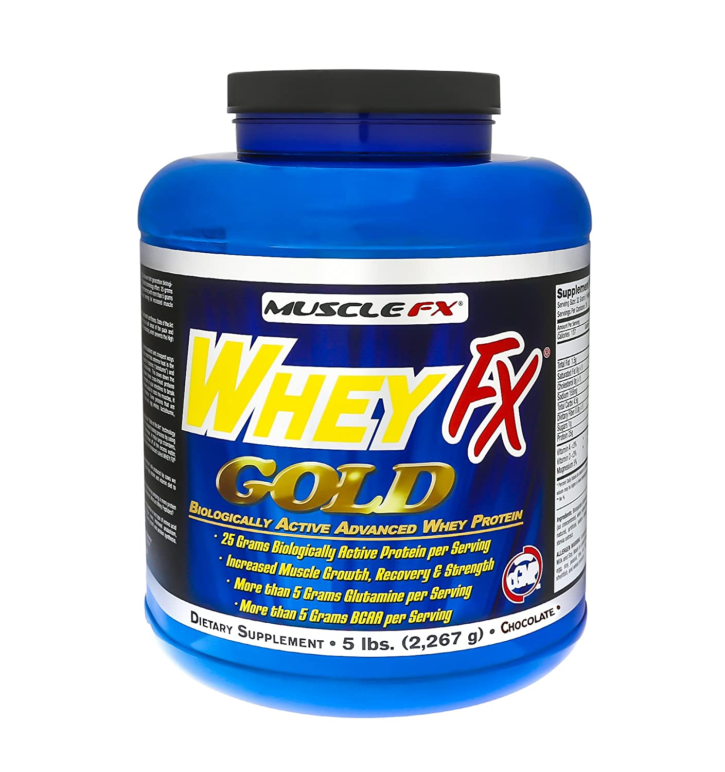 MUSCLE FX® WHEY FX GOLD® Biologically Active Advance Whey Protein 5 lbs (Vanilla)