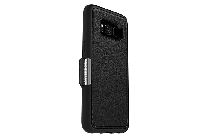 free shipping 5b4ab 266bf OtterBox STRADA SERIES for Samsung Galaxy S8 - Retail Packaging - ONYX  (BLACK/BLACK LEATHER)