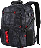 Large Travel Backpack,TSA Durable Water Resistant Outdoor Laptop Backpack for Men Women with USB Charging Port,Stylish College School Computer Bookbag Fits 17Inch Notebook,Camo