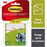 Command Poster Strips, Hang Artwork, Strong and Versatile, (17024-48ES)