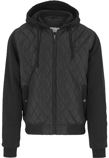 f1233ac00389d9 Urban Classics Herren Sweatjacke mit Kapuze Hooded Diamond Quilt Jacket
