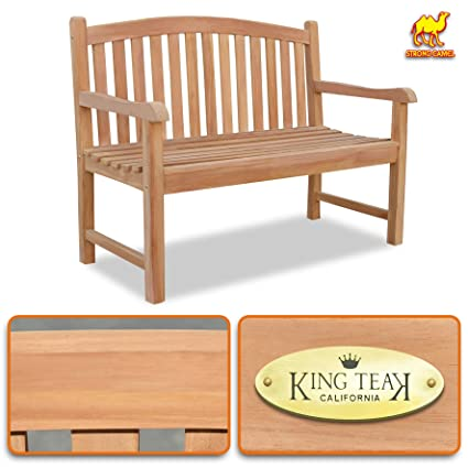 Miraculous Strong Camel 4Ft Long Teak Wood Garden Bench Seat Outdoor Terrace Patio Seating Furniture Gmtry Best Dining Table And Chair Ideas Images Gmtryco