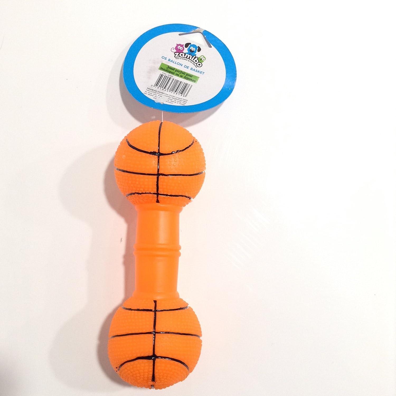 Juguete hueso de balón de baloncesto para perro * sonoro *: Amazon ...