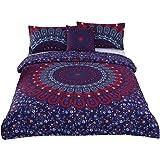 Sleepwish 4 Pcs Love Stretches Bedding Bohemian Retro Indian Bohemian Duvet Cover Set Queen Size